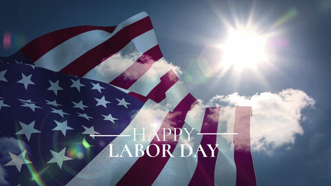 Digital generated video of labor day 4k Animation