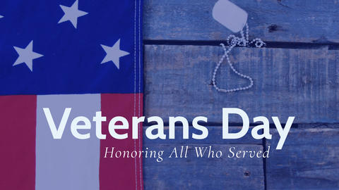 Digital generated video of veterans day 4k Animation