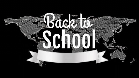 Digital generated video of back to school 4k Animation