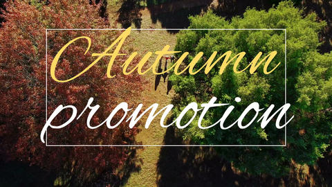Digitally generated video of autumn promotion 4k Animation