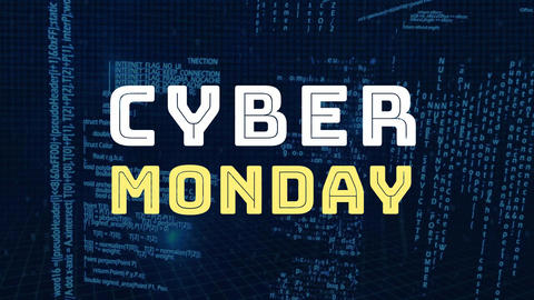 Digitally generated of cyber Monday 4k Animation