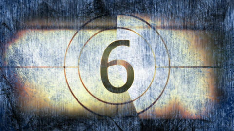 Countdown against abstract background 4k Animation