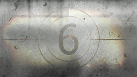 Countdown against grey background 4k Animation