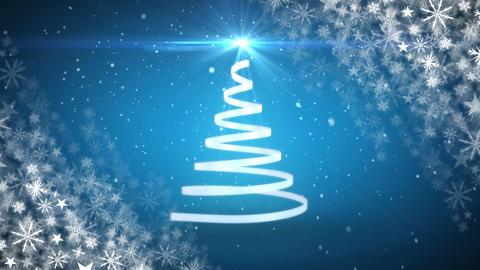 Christmas tree and snowflakes Animation