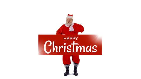 Christmas greetings from dancing Santa 4k Animation