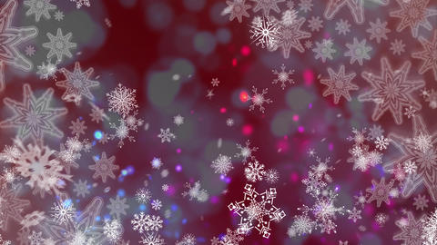 Snowflakes and lights, Stock Animation