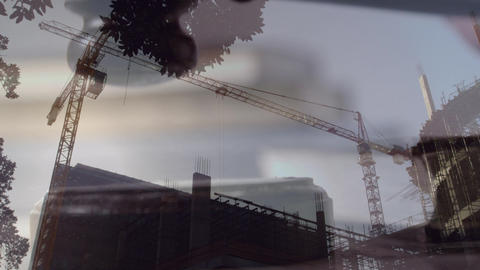 Digital animation of buildings under construction 4k Animation
