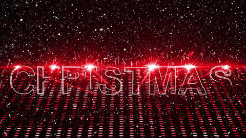 Christmas animation showing red laser lights, text Christmas and Christmas tree 4k Animation