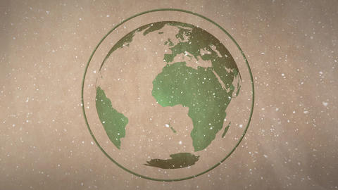 Digital animation of earth globe against brown background 4k Animation