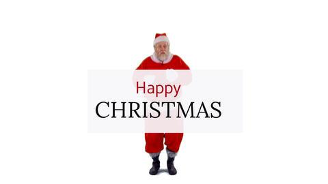 Dancing Santa with seasons greetings 4k Animation