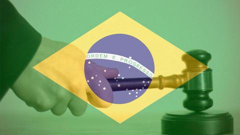 Digitally composite of Brazil flag 4k Animation