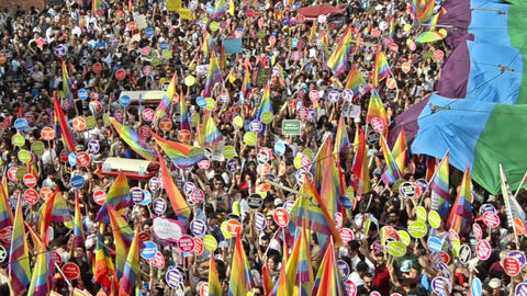 LGBTI Honour Prade while Gezi Park protests Footage