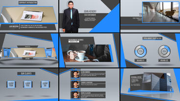 Clean Presentation Pack After Effects Template