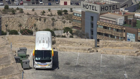 Hotel And Tour Bus Footage
