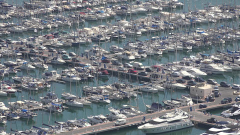 Boats And Yachts In Marina Or Harbor Footage