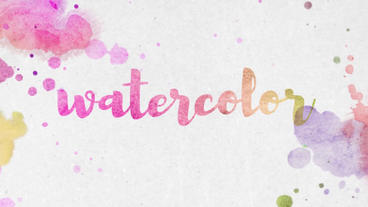 Watercolor Slideshow After Effectsテンプレート
