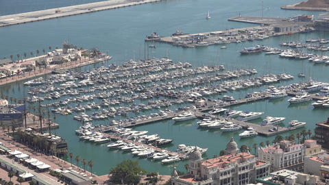 Marina With Boats And Yachts Footage