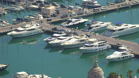 Luxury Yachts In Marina Footage