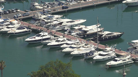 Boats And Yachts In Harbor Footage