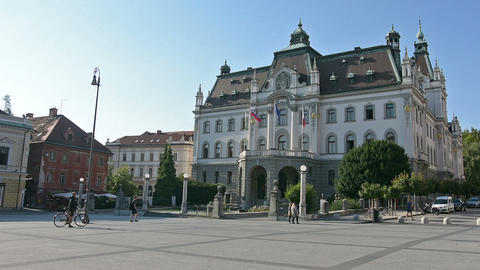 the university building in Ljubljana Footage