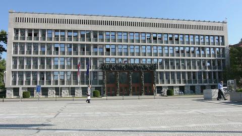 The parliament palace il Ljubljana Footage