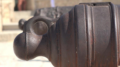Forged Iron Of Medieval Canon Footage