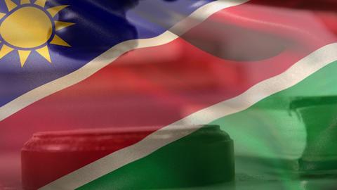 Digitally composite of Namibia flag 4k Animation