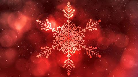 Falling snow with bokeh light Christmas circles and snowflake Animation