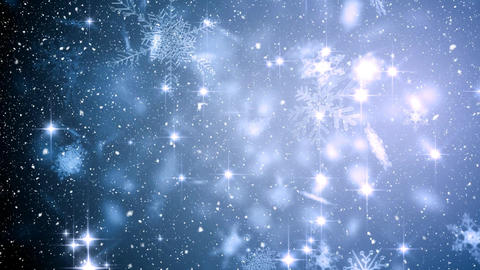 Falling snow with Christmas snowflakes Animation