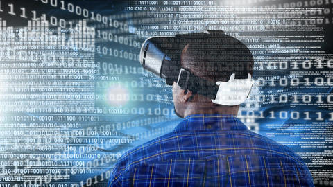 Businessman using VR Animation
