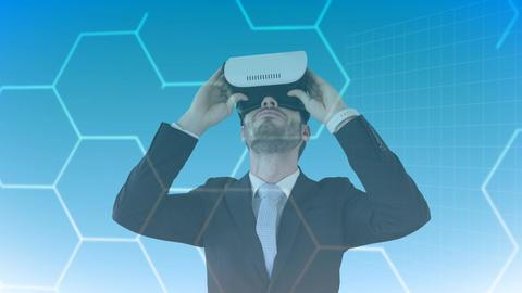 Businessman using VR Video Animation