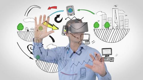 Man using VR Animation