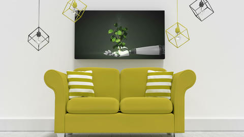 Living Room Canvas Video Animation