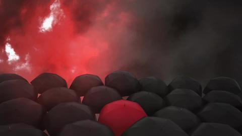 Umbrellas and lightning Animation