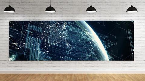 Lobby room with Canvas CG動画