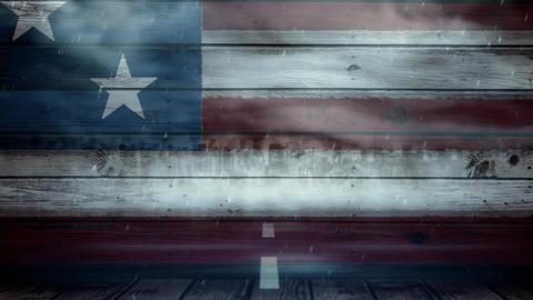American flag and tornado Animation