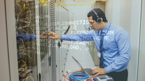 Man working in Server Room Animation