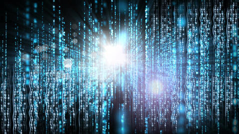 Conceptual digital animation showing binary code technology 4k Animation