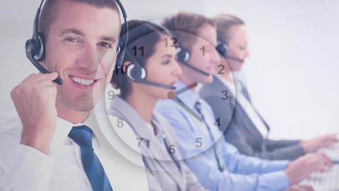 man working in Callcenter Animation