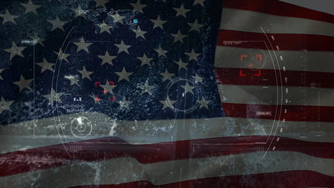 American flag video Animation