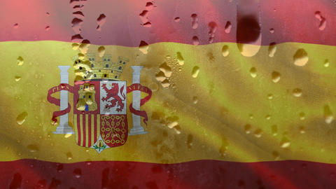 Spanish flag with condensation Animation