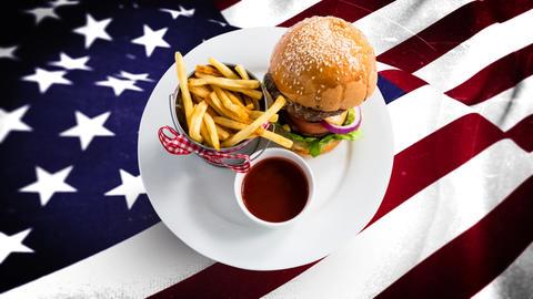 American flag video Animation