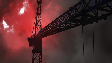 Thunder and crane Video Animation