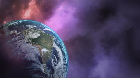 Thunder and planet earth Animation