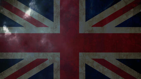 union jack with thunder Animation