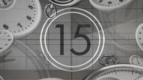 Film countdown in black and white 4k Animation