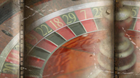 Roulette board turning video CG動画