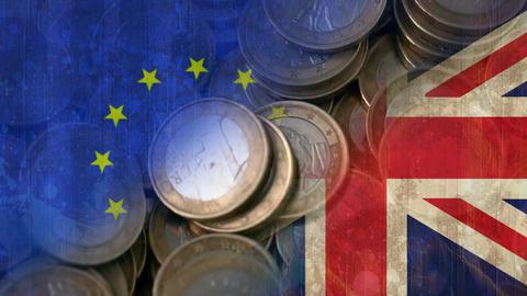 British and EU flag video Animation
