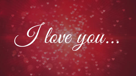 I love you against red background Animation