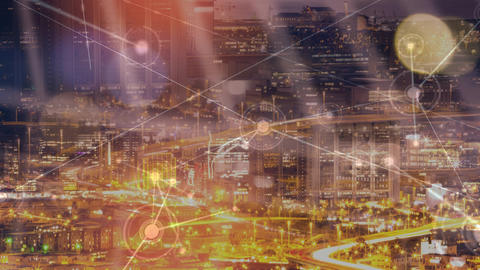 City skyline video Animation